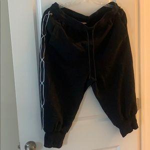 Hunter for target black sweatpants 1X new w/o tags
